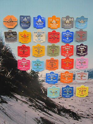 28   Year   Collection   Ship   Bottom,   New   Jersey   Beach   Badges/Tags