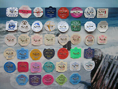 43 Year Complete Collection  Long  Beach Township (Lbi)  N.j. Beach Badges/Tags