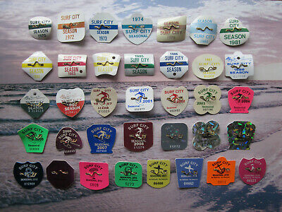 39  Year  Collection   Surf  City  New   Jersey  Seasonal  Beach  Badges/Tags