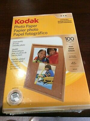 KODAK 4X6 Photo Paper Instant Dry GLOSS/Brilliant for Inkjet 100-Pack FREE SHIP