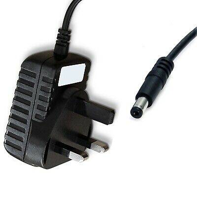 12V DC UK Mains Power Supply Adapter 2.1mm / 5.5mm Jack 1.2m Cable
