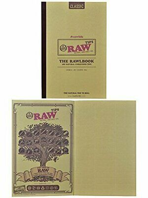 RAW Classic Rawlbook 480 Count Book of Natural Unrefined Rolling Tips by Raw