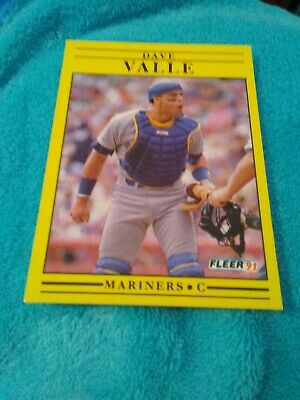 1991 Bowman 251 Dave Valle Seattle Mariners Baseball Card