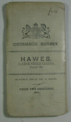 1907 Old Antique OS Ordnance Survey One-Inch Third Edition Map 20 Hawes