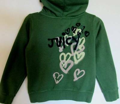 "Juicy Couture Girls ""Lawn"" Fashion First Fleece Hoodie (7) NWT"