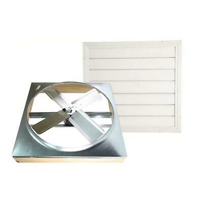 Whole House Fan 24in Direct Drive w/ Shutter Cool Attic Air Ventilation 2 Speed