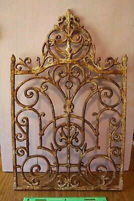 Cast Iron Gate Architectural Salvage Ornate Garden Art Fireplace Panel Vintage