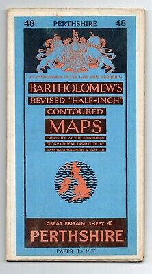 Bartholomews Half Inch Contoured Map Of Perthshire Number 48 Late 1950s?