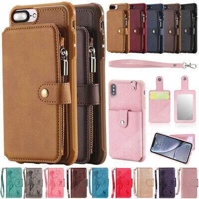 Leather Back Case Wallet Card Slot Cover For Samsung Galaxy A70 A50 A40 M10 M20