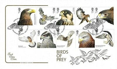 Gb 2019 Birds Of Prey, Cotswold Fdc With Falcon Road Postmark