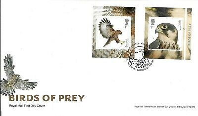 Gb 2019 Birds Of Prey Retail N.v.i. Booklet Stamp On Royal Mail Fdc With Eagle