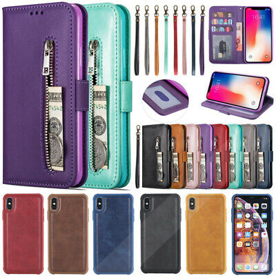 Leather Wallet Magnetic Card Case Cover For Samsung Galaxy S9 S10 Plus Note 8 9