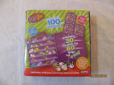 NEW FlipaZoo Series 1 Collector's Case, Includes 2 Special Edition Flipazoos!