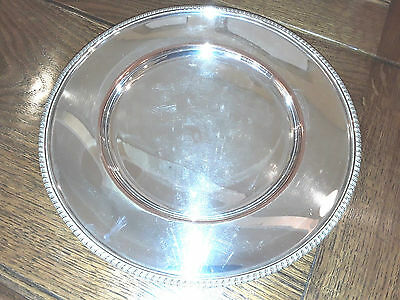 Fine Vintage Quality Silver Plated gadrooned edge plate,  plate on copper 1 of 7