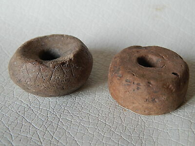 RARE Ceramic Spindle Whorl with Ornament 2psc. Roman period.