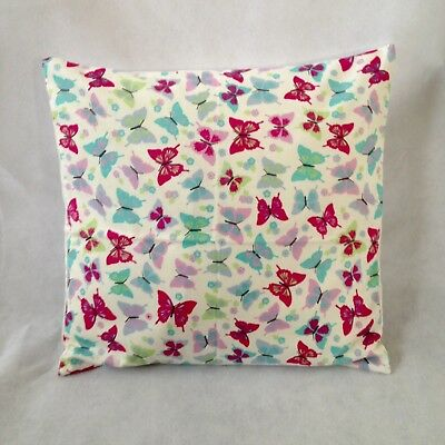 "New 16"" Childrens Girls Pink Purple Teal Butterflies Butterfly Cushion Cover"