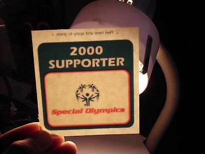 Window,Bumper Sticker,Decal,donation Special Olympics 2000 supporter free ship a