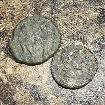 Ancient Constantinus II 337-361 AD Coin Authentic Copper Roman Artifact Old