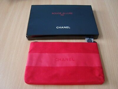 Chanel   red rouge  makeup bag new  VIP gift