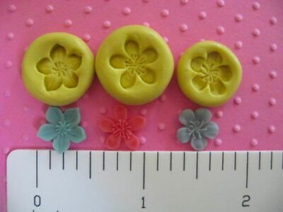Corncockle Flower Polymer Clay Mold #MD1082