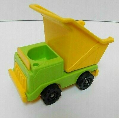 Fisher Price Little People Lift & Load Construction Green Dump Truck Vintage