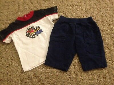 Baby boy 2-piece outfit size 6 months pants shirt short sleeves Circo