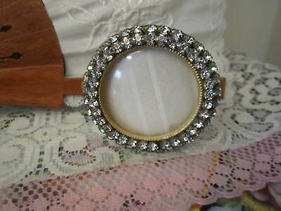 Rhinestone Round Picture Frame For Photo