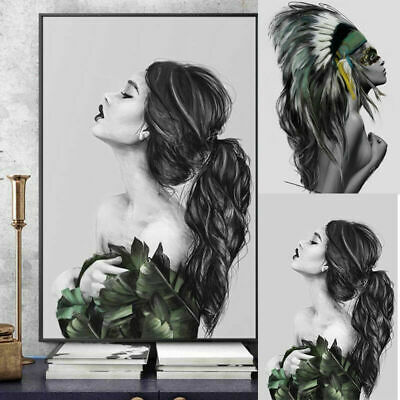 Abstract Women Line Drawing Nordic Poster & Prints Modern Canvas Painting Wall