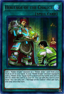 3x Yugioh SOFU-EN090 Heritage of the Chalice Unlimited Ultra Rare