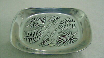 "The Wilton Co.rwp Pewter Tray Serving Dish 9 1/4"" X 6 1/2"" Leaf Design"