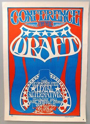 1967 Conference on the Draft, San Francisco Poster by Alan Gut Terk