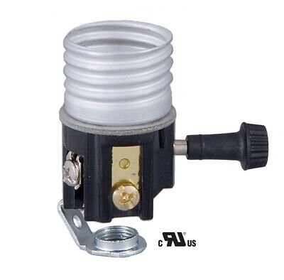 B&P Lamp® On/Off Med. Base Socket Interior with 1/8F hickey and paper insulator