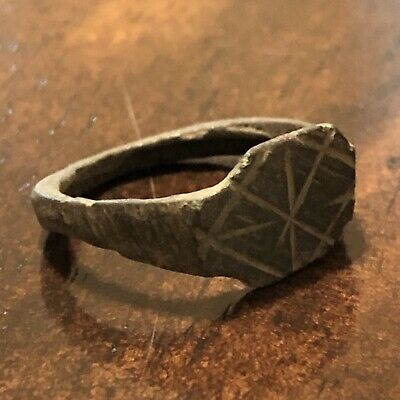 ANCIENT ROMAN OR Byzantine Ring European Jewelry Artifact Authentic Rare Old