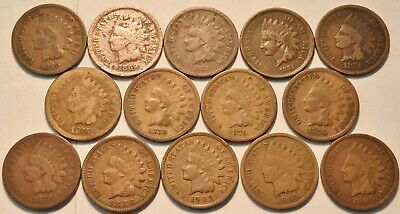LARGE COLLECTION Of Indian Head Cent Penny Coins 1858-1909 @ Old