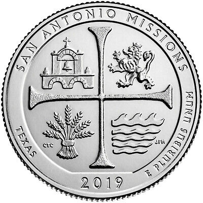 2019 San Antonio Missions National Historical Park (P&D set)  BU **IN HAND**
