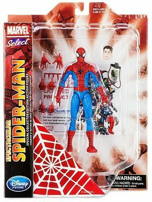 """New Disney Store Marvel Select Spectacular Spider-Man 7"""" Action Figure Avengers"""