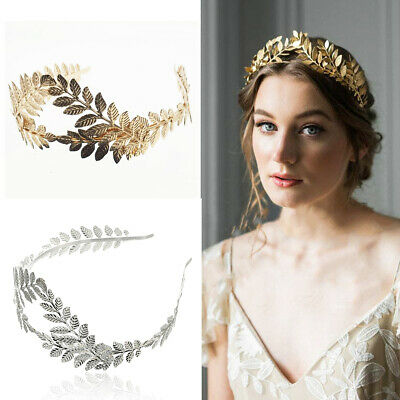 Women Girl Goddess Leaf Flower Design Bridal Hair Crown Head Piece Alice Band