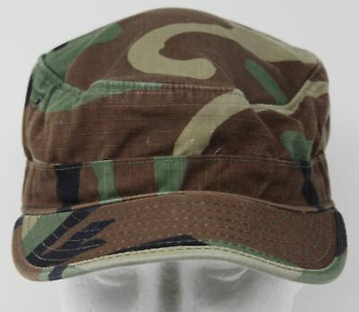 Army Style Ripstop Hat Soldier All Sizes Mandra Woodland Camo US ACU Field Cap
