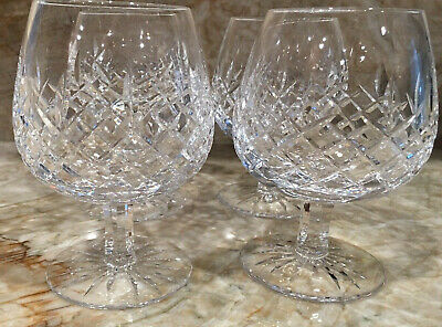 Set of 5 Astral Brandy Crystal Glasses Mira Cut Pattern Brandy Snifter