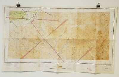 Vintage 1943 Sectional Aeronautical Chart La Grande, OR Restricted Air Map 41x24
