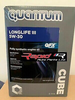 Quantum Longlife 3 5W-30 Fully Synthetic Engine Oil- 5L FREE POSTAGE NEW 2019