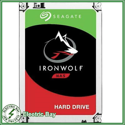 "10TB Seagate IronWolf 3.5"" SATA Internal NAS Hard Drive HDD 7200RPM 256MB Cache"