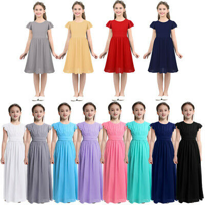 Flower Girl Dress Kids Party Wedding Bridesmaid Prom Gown Princess Formal Dress