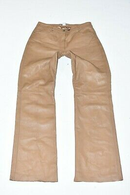Suede Vintage Trousers in Brown rst106 KIT Real Leather