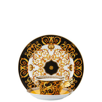 """Versace By Rosenthal,Germany  """"25 Years Barocco"""" Tea Cup, Saucer, Dessert"""
