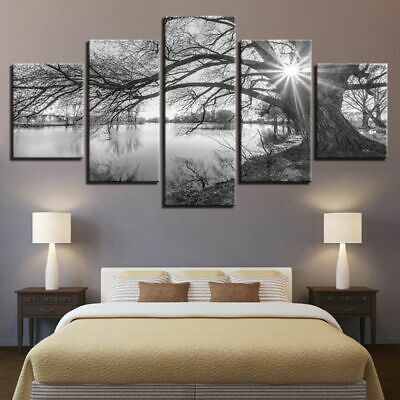 Tree Unframed Modern Art Oil Painting Print Canvas Picture Home Wall Decor