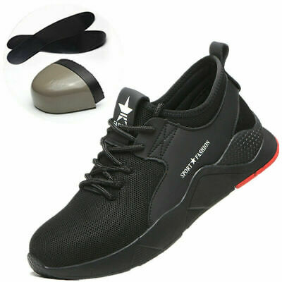 UK New Mens Steel Toe Work Sports Shoes Trainers Lightweight Safety Bulletproof