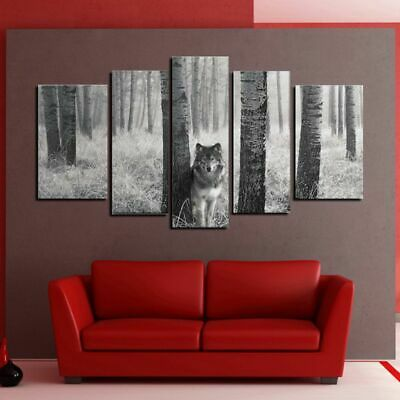 Wolf Unframed Modern Art Oil Painting Print Canvas Picture Home Wall Decor