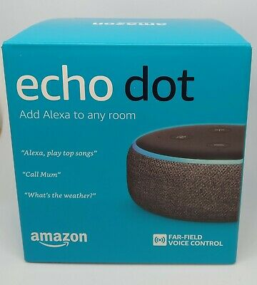 NEW SEALED Amazon Echo Dot 3rd Generation Smart Speaker WITH Alexa  CHARCOAL
