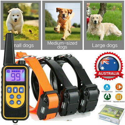 Anti Bark Dog Training Device Collar Stop Barking Rechargeable Remote+3 Receiver